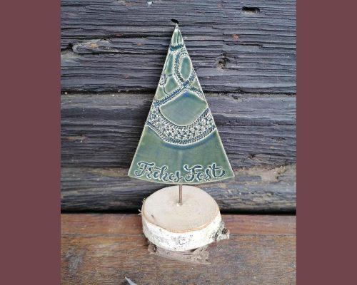 dunkelgrün keramik baum