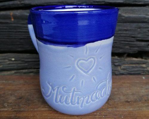 blau keramik haferl