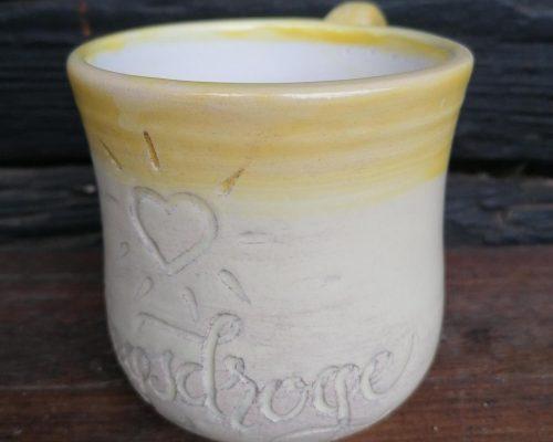 gelb keramik haferl