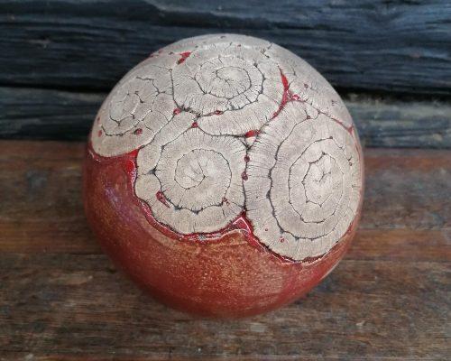 mittelgroß rot keramik kugel