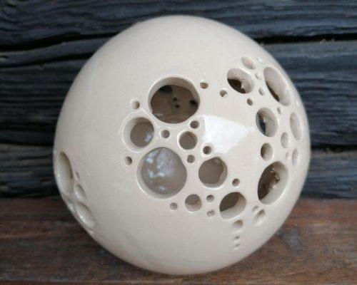 mittlere weiße keramik kugel