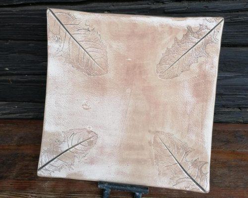 quadratische keramik platte