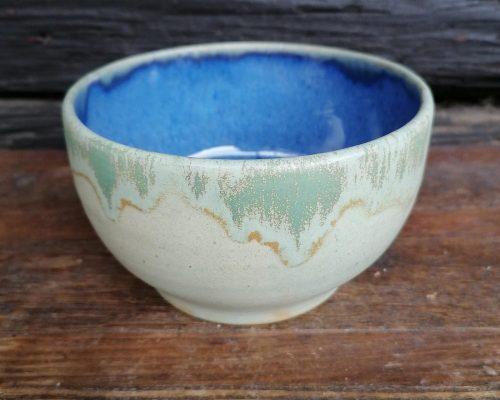 weiß-blau keramik müslischale