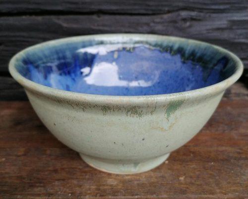 weiß-blau keramik schale
