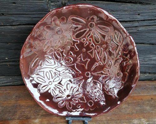 braune keramik schale