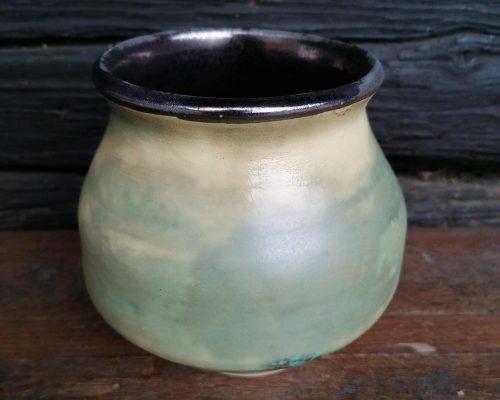 grün-gold keramik vase