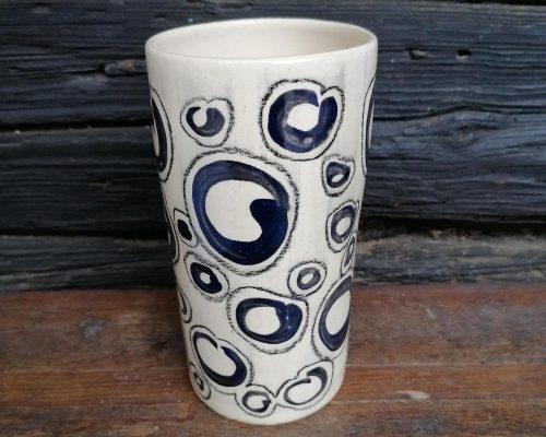 schwarz-weiß keramik vase