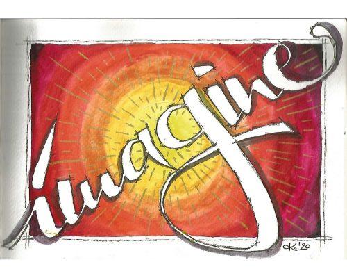 lettering concept imagine