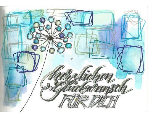 lettering concept Herzlichen gluckurinsch furdich