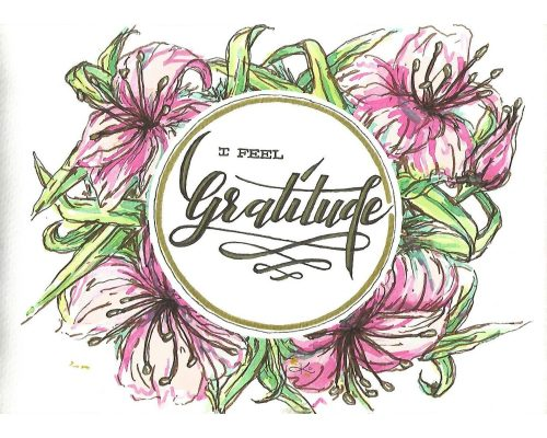 lettering concept I feel gratitude