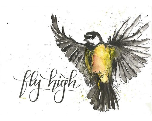 lettering concept Fly high