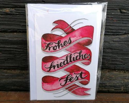 lettering weihnachtskarte
