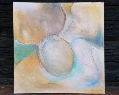 natürliche pigmente auf leinwand malerei