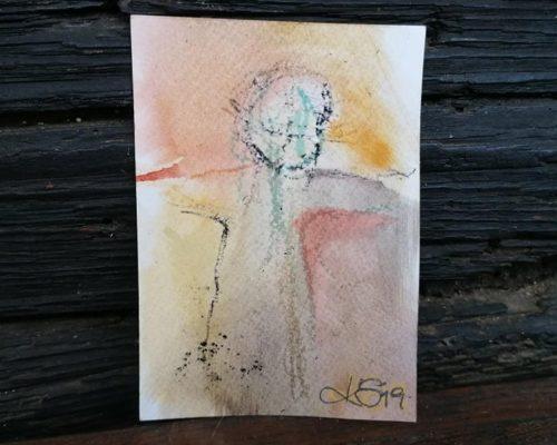 natürliche pigmente auf papier