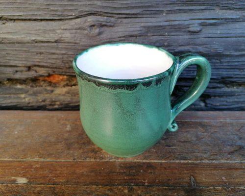 keramik krug grün weiß