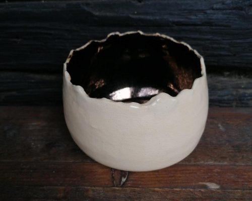 gold-weiß keramik schale